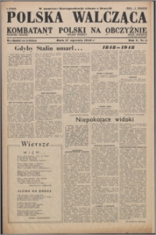 Polska Walcząca - Kombatant Polski na Obczyźnie 1948.01.17, R. 10 nr 3