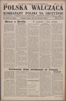 Polska Walcząca - Kombatant Polski na Obczyźnie 1948.04.10, R. 10 nr 15