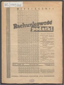 Rachunkowość - Podatki 1948, R. 2 nr 1 (7)