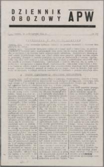 Dziennik Obozowy APW 1944.10.10 nr 210