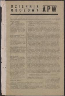Dziennik Obozowy APW 1945.01.02, R. 2 nr 1
