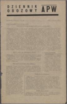 Dziennik Obozowy APW 1945.01.03, R. 2 nr 2