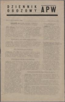 Dziennik Obozowy APW 1945.01.05, R. 2 nr 4