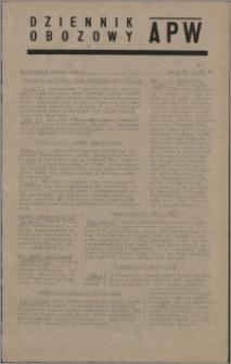 Dziennik Obozowy APW 1945.01.09, R. 2 nr 5a