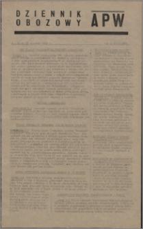 Dziennik Obozowy APW 1945.01.10, R. 2 nr 6
