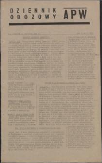 Dziennik Obozowy APW 1945.01.11, R. 2 nr 7