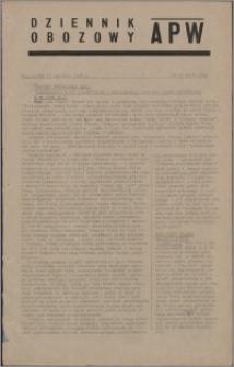 Dziennik Obozowy APW 1945.01.12, R. 2 nr 8