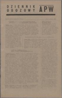 Dziennik Obozowy APW 1945.01.13, R. 2 nr 9