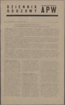 Dziennik Obozowy APW 1945.01.15, R. 2 nr 10