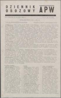 Dziennik Obozowy APW 1945.01.18, R. 2 nr 13
