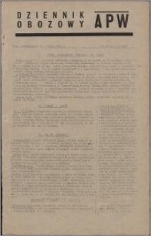 Dziennik Obozowy APW 1945.01.22, R. 2 nr 16