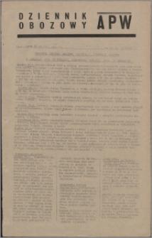 Dziennik Obozowy APW 1945.01.23, R. 2 nr 17
