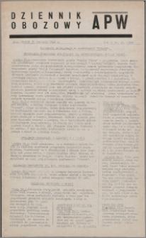 Dziennik Obozowy APW 1945.01.30, R. 2 nr 23