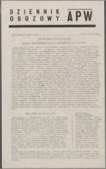 Dziennik Obozowy APW 1945.03.16, R. 2 nr 62