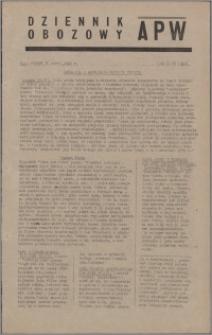 Dziennik Obozowy APW 1945.03.20, R. 2 nr 65