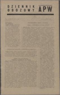 Dziennik Obozowy APW 1945.03.24, R. 2 nr 69
