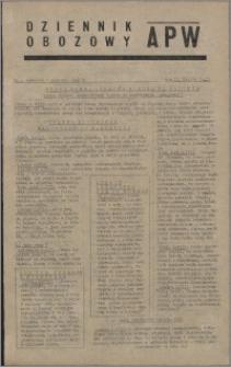 Dziennik Obozowy APW 1945.08.09, R. 2 nr 165
