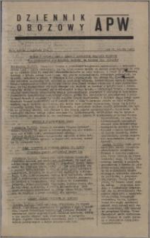 Dziennik Obozowy APW 1945.09.01, R. 2 nr 184