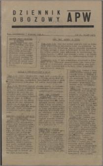 Dziennik Obozowy APW 1945.09.03, R. 2 nr 185