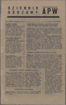 Dziennik Obozowy APW 1945.09.07, R. 2 nr 189