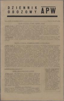 Dziennik Obozowy APW 1945.09.19, R. 2 nr 198