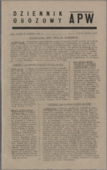 Dziennik Obozowy APW 1945.09.22, R. 2 nr 201