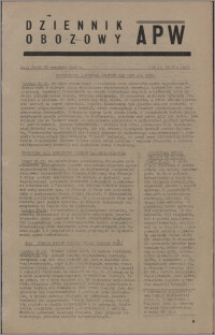 Dziennik Obozowy APW 1945.09.26, R. 2 nr 204