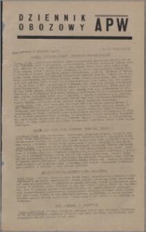 Dziennik Obozowy APW 1945.09.27, R. 2 nr 205