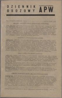 Dziennik Obozowy APW 1945.10.13, R. 2 nr 219