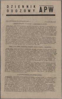 Dziennik Obozowy APW 1945.10.22, R. 2 nr 226