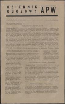 Dziennik Obozowy APW 1945.10.24, R. 2 nr 228