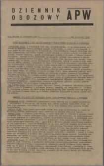 Dziennik Obozowy APW 1945.11.27, R. 2 nr 256