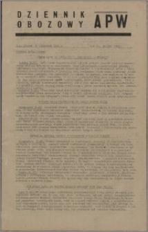 Dziennik Obozowy APW 1945.11.30, R. 2 nr 259