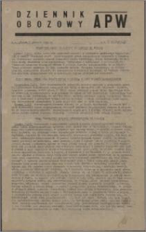 Dziennik Obozowy APW 1945.12.07, R. 2 nr 265