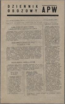 Dziennik Obozowy APW 1945.12.08, R. 2 nr 266