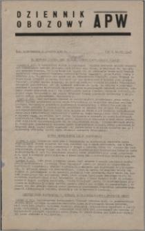 Dziennik Obozowy APW 1945.12.10, R. 2 nr 267