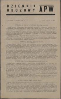 Dziennik Obozowy APW 1945.12.11, R. 2 nr 268