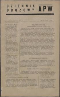 Dziennik Obozowy APW 1945.12.15, R. 2 nr 272