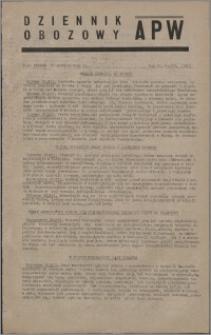 Dziennik Obozowy APW 1945.12.18, R. 2 nr 274