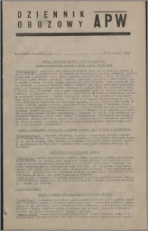 Dziennik Obozowy APW 1945.12.22, R. 2 nr 278