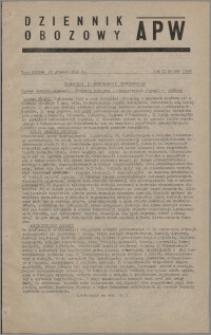 Dziennik Obozowy APW 1945.12.28, R. 2 nr 280