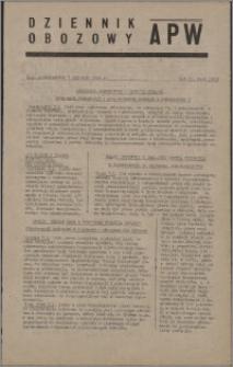 Dziennik Obozowy APW 1946.01.07, R. 3 nr 5