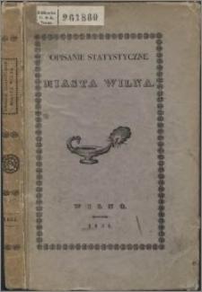 Opisanie statystyczne miasta Wilna