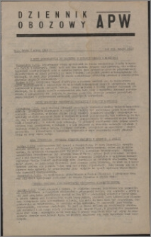 Dziennik Obozowy APW 1946.03.06, R. 3 nr 52