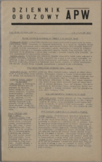 Dziennik Obozowy APW 1946.03.13, R. 3 nr 58