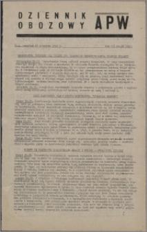 Dziennik Obozowy APW 1946.04.25, R. 3 nr 92