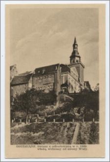 Grudziądz. Ratusz z odbudowaną w r. 1929 wieżą, widziany od strony Wisły