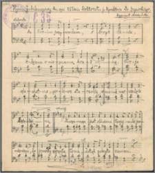 Hymn Jubileuszowy ku czci 25 lecia Doktoratu p. Dyrektora Dr. Zegarskiego : [na chór mieszany]