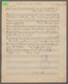 Pieśń do ślubu : [na głos z akompaniamentem skrzypiec, wiolonczeli i organów]