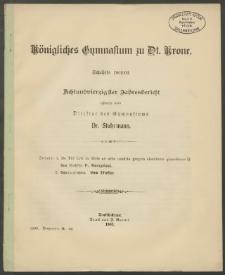 Königliches Gymnasium zu Dt. Krone. Schuljahr 1902/03. Achtundvierzigster Jahresbericht